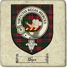 Dyce Clan Badge Marble Tile