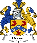 Drever Family Crest / Drever Coat of Arms JPG Download