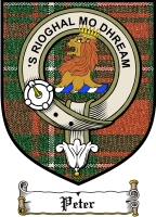 Peter Clan Badge / Tartan FREE preview