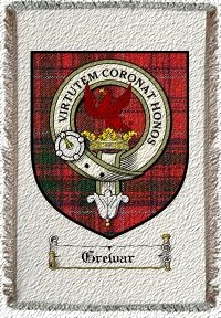 Grewar Clan Badge Throw Blanket