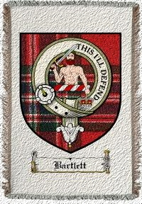 Bartlett Clan Badge Throw Blanket