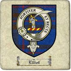 Elliot Clan Badge Marble Tile