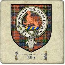 Ellis Clan Badge Marble Tile