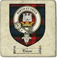 Ewan Clan Badge Marble Tile