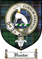 Hunter Clan Stuart Clan Badge / Tartan FREE preview