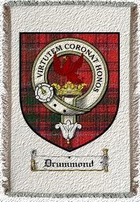 Drummond Clan Badge Throw Blanket