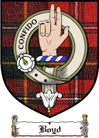 Boyd Clan Stewart Clan Badge / Tartan FREE preview