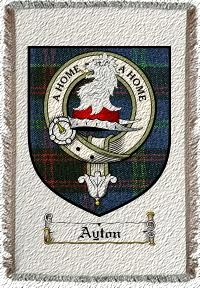 Ayton Clan Badge Throw Blanket