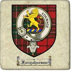 Farquharson Clan Cumming Clan Badge Marble Tile