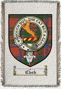 Clerk Clan Mackintosh Clan Badge Throw Blanket