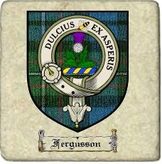 Fergusson Clan Badge Marble Tile