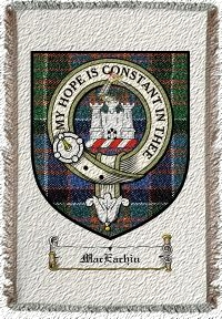 Maceachin Clan Badge Throw Blanket