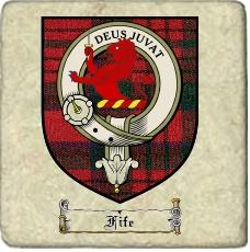 Fife Clan Badge Marble Tile
