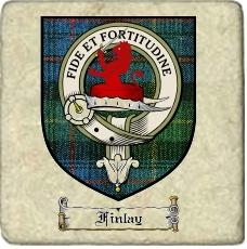 Finlay Clan Badge Marble Tile