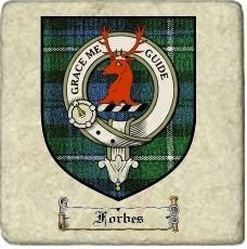 Forbes Clan Badge Marble Tile
