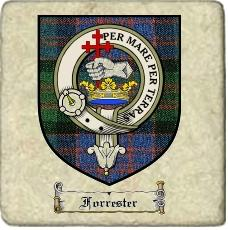 Forrester Clan Badge Marble Tile