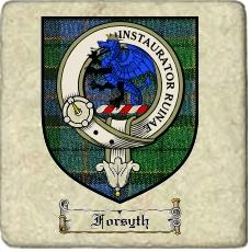 Forsyth Clan Badge Marble Tile