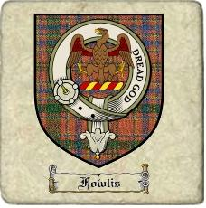 Fowlis Clan Badge Marble Tile