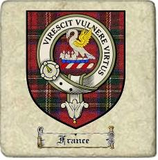 France Clan Badge Marble Tile