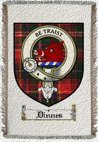 Dinnes Clan Badge Throw Blanket