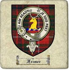 Fraser Clan Badge Marble Tile