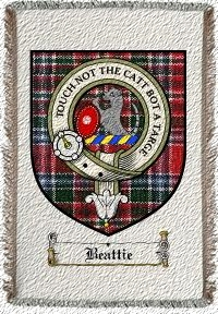 Beattie Clan Badge Throw Blanket