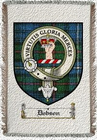Dobson Clan Badge Throw Blanket