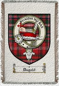 Dugald Clan Badge Throw Blanket