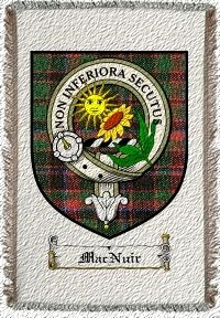 Macnuir Clan Badge Throw Blanket