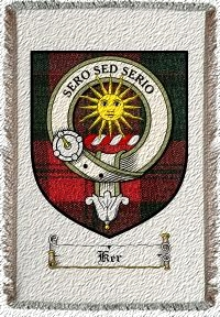Ker Clan Badge Throw Blanket