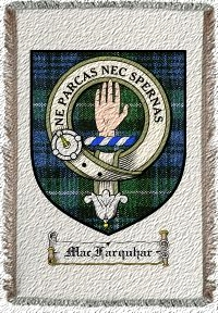 Macfarquhar Clan Lamont Clan Badge Throw Blanket