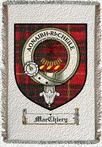 Macchlery Clan Badge Throw Blanket