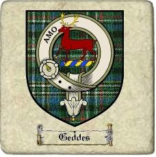 Geddes Clan Scott Clan Badge Marble Tile