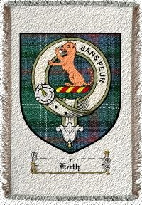 Keith Clan Sutherland Clan Badge Throw Blanket