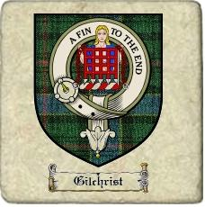 Gilchrist Clan Ogilvie Clan Badge Marble Tile