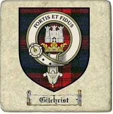 Gilchrist Clan Badge Marble Tile