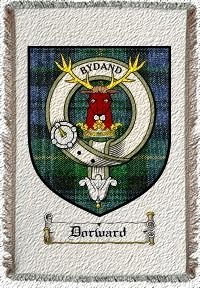 Dorward Clan Badge Throw Blanket