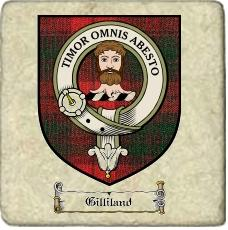 Gilliland Clan Badge Marble Tile