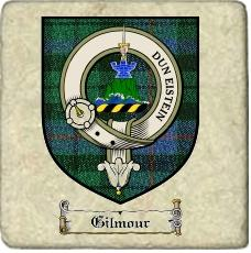 Gilmour Clan Badge Marble Tile