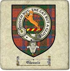Glennie Clan Badge Marble Tile