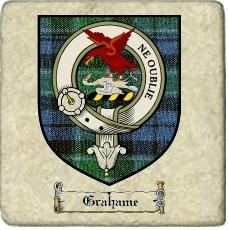 Grahame Clan Badge Marble Tile