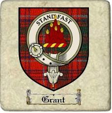 Grant Clan Badge Marble Tile