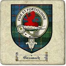 Greusach Clan Badge Marble Tile