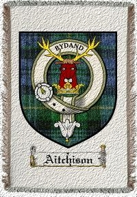 Aitchison Clan Badge Throw Blanket