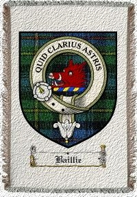 Baillie Clan Badge Throw Blanket