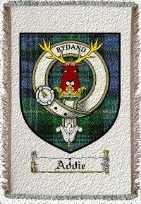 Addie Clan Badge Throw Blanket