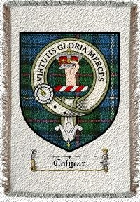 Colyear Clan Badge Throw Blanket