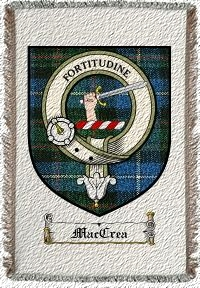 Maccrea Clan Badge Throw Blanket