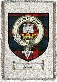 Ewen Clan Badge Throw Blanket