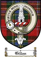 Gillan Clan Macnab Clan Badge / Tartan FREE preview